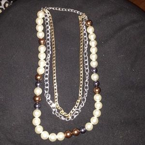 Jewelry - Pearl chain statement necklace